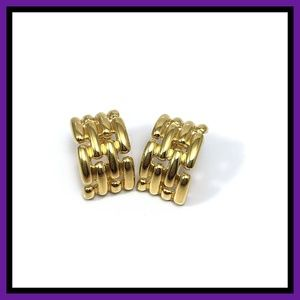 Vintage Givenchy Gold Plated Earrings